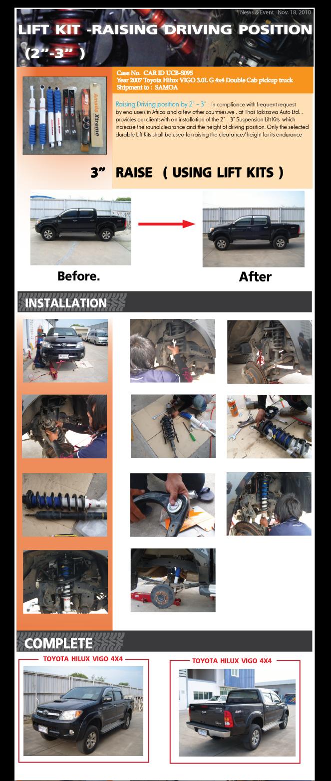 2 3 Inch Lift Kits Installation On Toyota Hilux Vigo